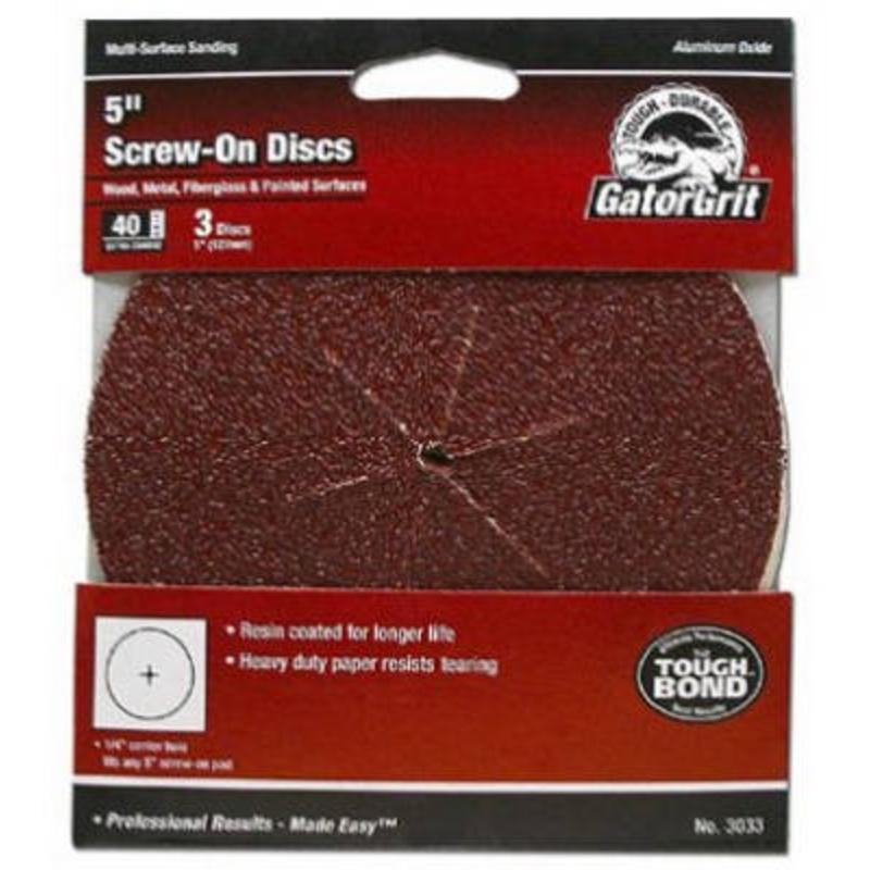 "150 25 Ct Grit Disc, 5"" X 1/4"", 5-Pk Ali Industries Paint Sundries 3030"