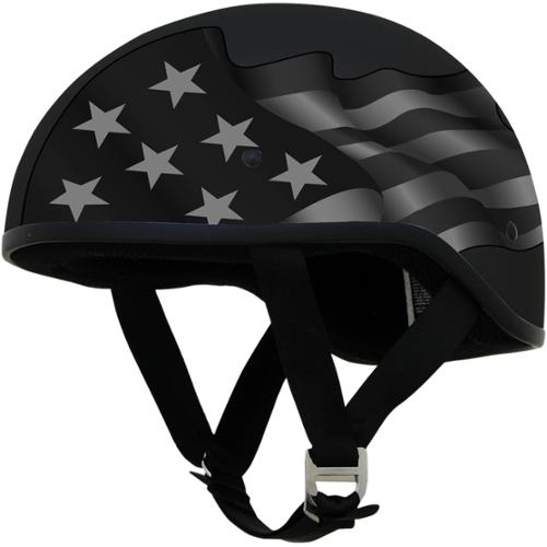 AFX FX-200 Slick Beanie Helmet Graphic Flag Stealth