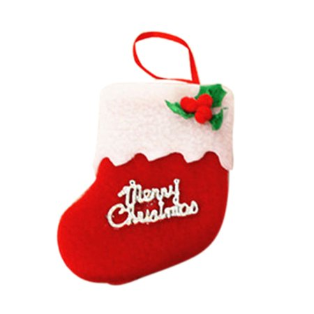 Holiday Time Small Boots Pendant Christmas Tree Ornaments Christmas Decorations Socks - Booth Decoration