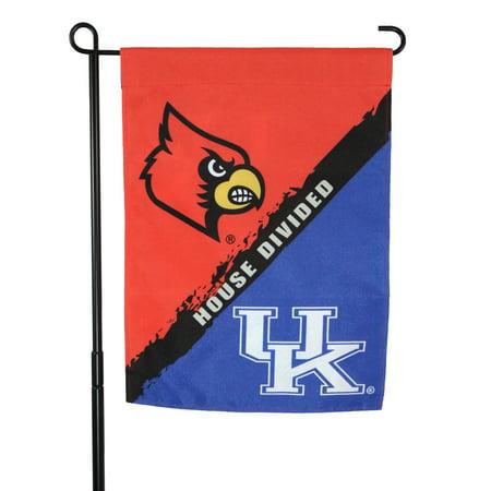 House Divided Garden - Wildcat vs. Cardinal House Divided Garden Flag