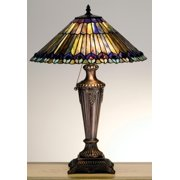 Meyda Tiffany 27563 Tiffany Glass Stained Glass / Tiffany Table Lamp From The Jeweled