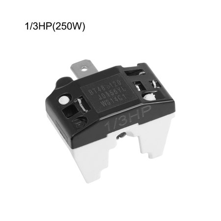2 Pcs Refrigerator Thermal Overload Protector 1/3HP 250W Freezer Compressor Part - image 1 of 2