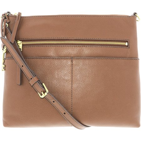 7af2b164c189 Fossil - Fossil Women s Fiona Large Crossbody Leather Cross Body Bag - Medium  Brown - Walmart.com