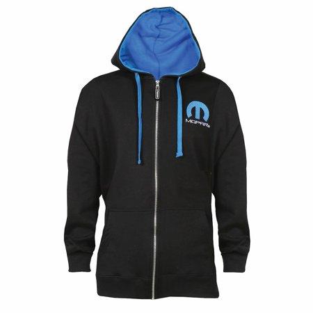 Unisex-Adult Officially Licensed Mopar Omega Logo Zippered Hoodie - Logo Zippered