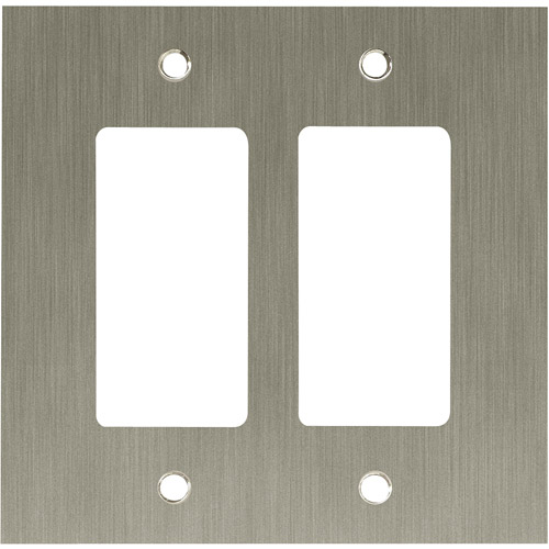 Franklin Brass Concave Double Decorator Wall Plate in Satin Nickel