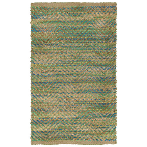 LR Resources Accent Green/Navy Area Rug