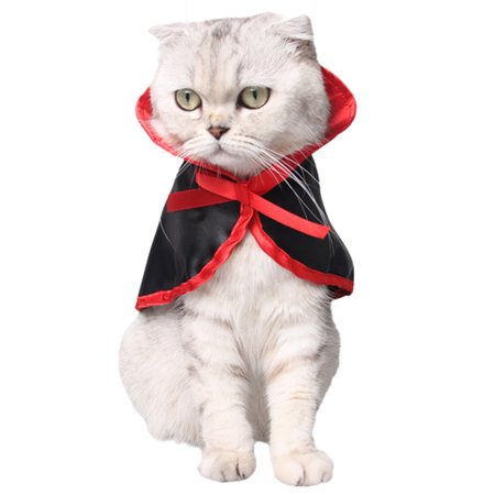 Christams Pet Costumes, Legendog Cute Halloween Party Cosplay Dressing up Vampire Cloak Cape for Dogs Cats Clothes Pet Outfit