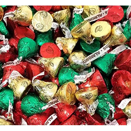 Holiday Hershey Kisses (Hershey's Kisses Milk Chocolate with Almonds, Holiday Mix, 2 pounds)
