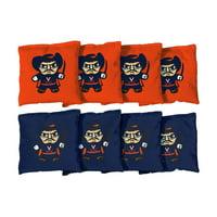 Virginia Cavaliers 8-Pack Tokyodachi Design Regulation Corn Filled Cornhole Bags