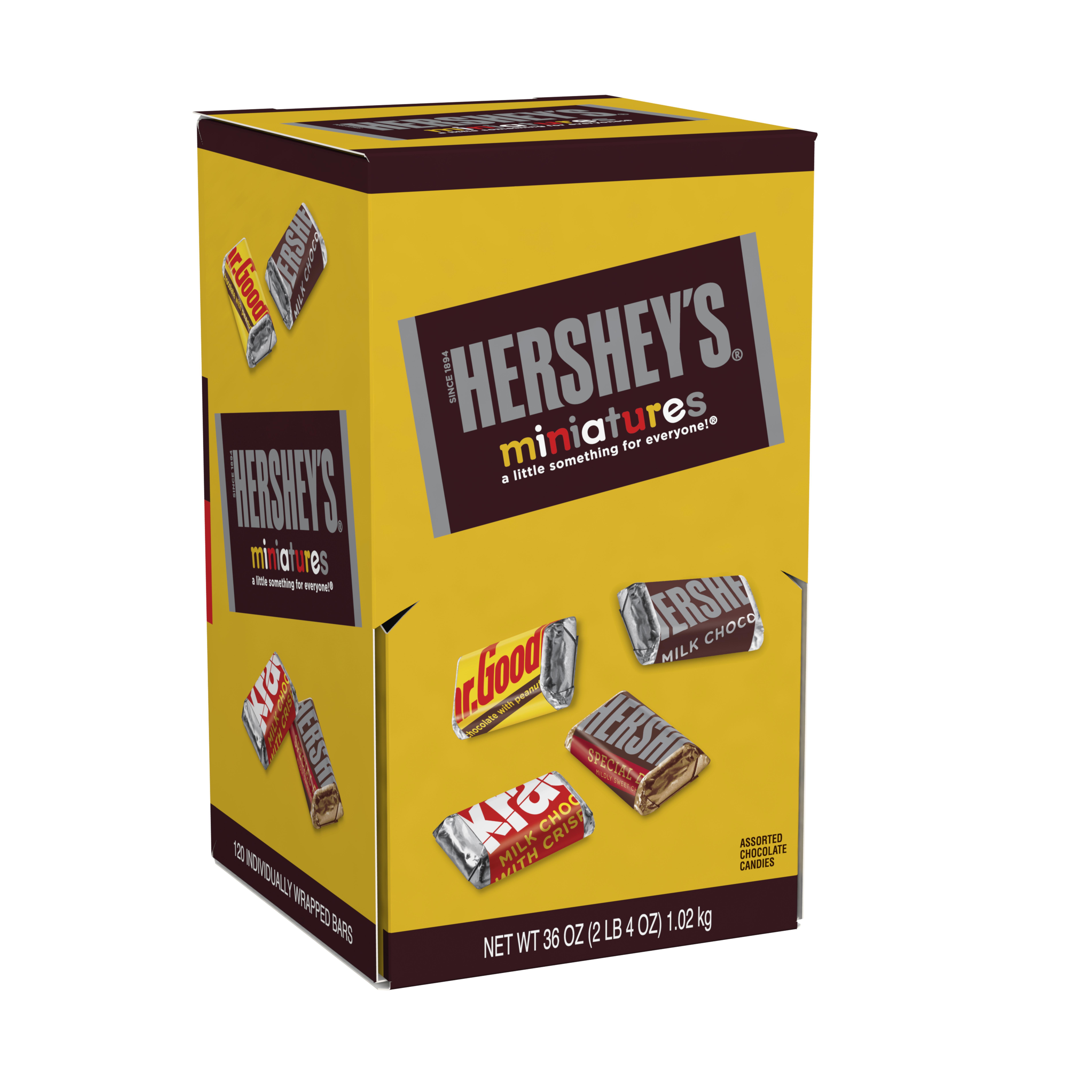 Hershey's Miniatures, Chocolate Candy Assortment, 36 Oz, 120 Ct