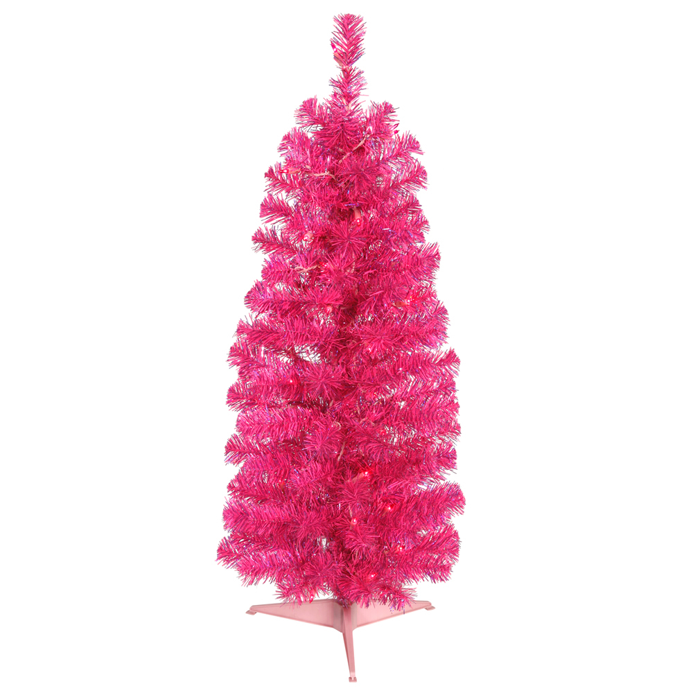 Exceptional Www.walmart Christmas Trees Part - 11: Vickerman 3u0027 Pink Pencil Artificial Christmas Tree With 50 Pink Lights -  Walmart.com