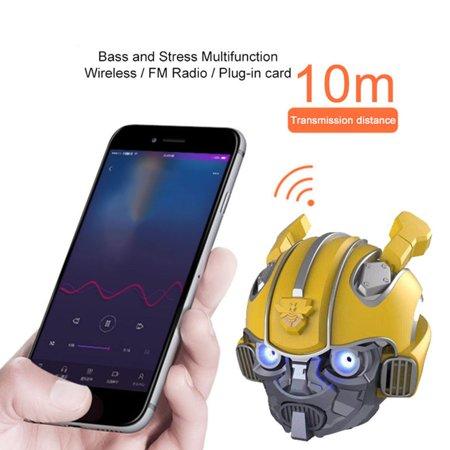 Bumblebee Helmet Wireless Speakers Stereo Loud Speakers FM Radio Mp3 Speaker - image 6 of 6