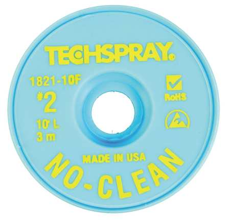 TECHSPRAY 1821-10F No-Clean Yellow #2 Braid - AS