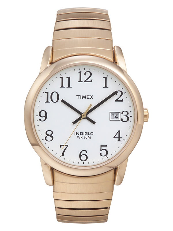 Timex Men's Easy Reader Watch, Gold-Tone Stainless Steel Expansion Band by Timex