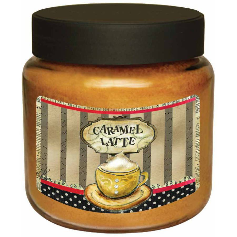 LANG Caramel Latte 16-Ounce Jar Candle, Scented with Smooth Vanilla Coffee and Creamy Caramel