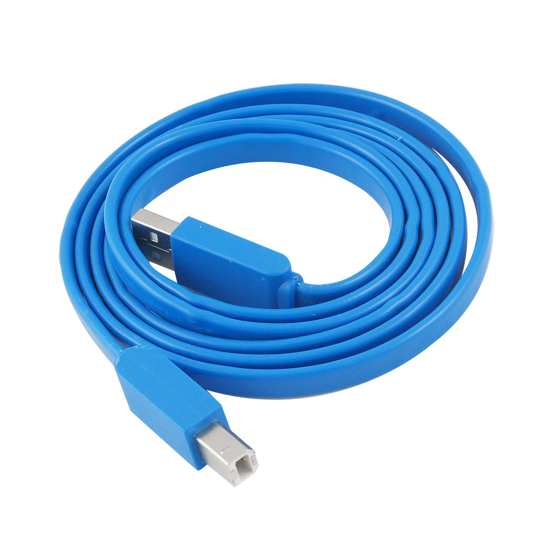 "59.1"" Blue USB 2.0 A Male to B Male Printer Cable Line"