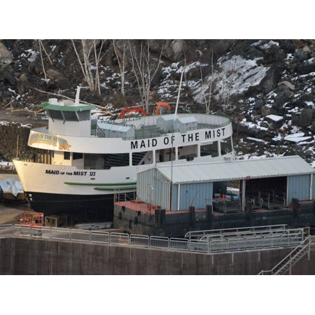 LAMINATED POSTER Tour Boat Winter Storage Maid Of The Mist Dry Dock Poster Print 24 x 36