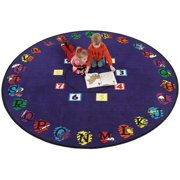 Flagship Carpets SCIR12RND 12ft Round Super Circle Educational Rug