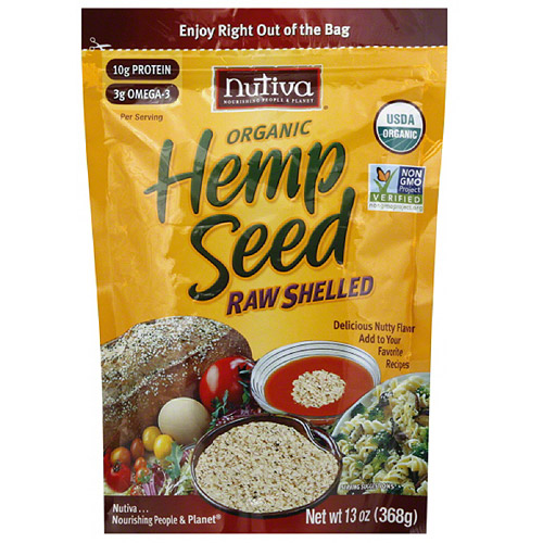 Nutiva Organic Raw Shelled Hempseed, 12 oz, (Pack of 6)