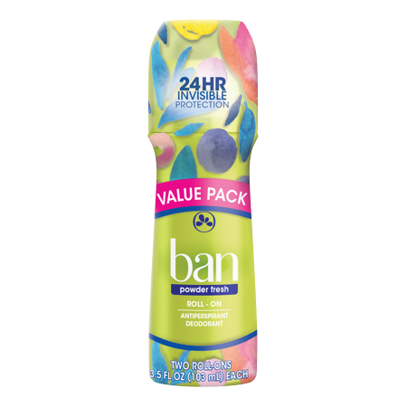 Ban Powder Fresh Roll-On Deodorant 3.5 oz Twin Pack (Clubmaster-brille-ray Ban)