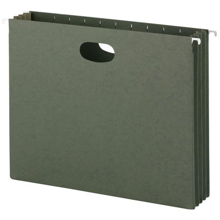 Ave Hanging Box - Hanging File Pockets, 3-1/2 Inch Expansion, Letter Size, Standard Green, 10 Per Box (64220), Hanging file pockets are perfect for storing large amounts of.., By Smead