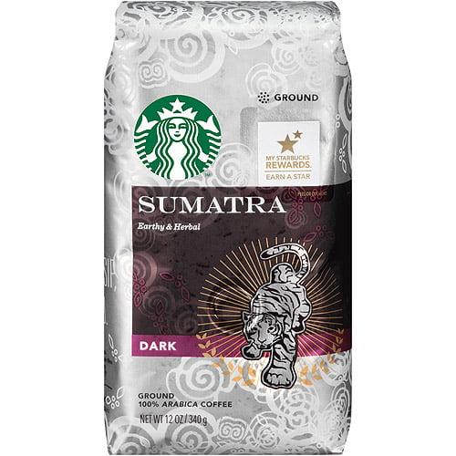 Starbucks Sumatra Ground Coffee, 12 oz