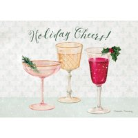 Lang Companies Cheers Petite Christmas Cards for Heart Warming Greetings - 2 Cards and 13 Envelopes - 5''x3.5''