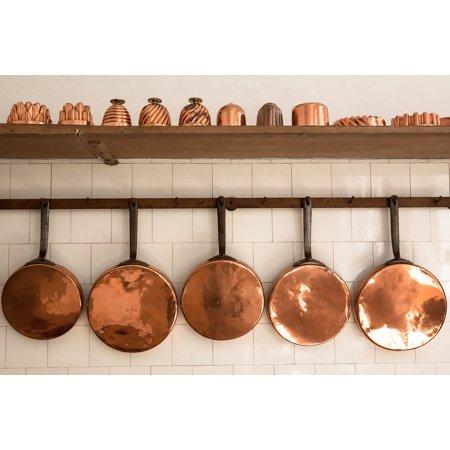 Laminated Poster Pans Kitchen Baking Moulds Old Antique Copper Poster Print 11 x 17 ()