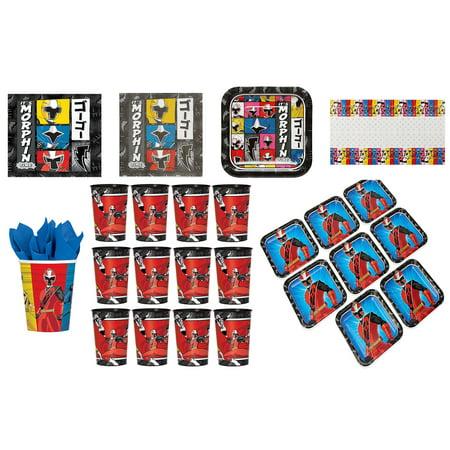 - Power Rangers Party Bundle: 16x Plates, 32x Napkins, 16x Cups, Table Cover