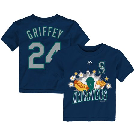 huge discount 127df 46665 Ken Griffey Jr. Seattle Mariners Majestic Toddler Snack Attack Name &  Number T-Shirt - Navy