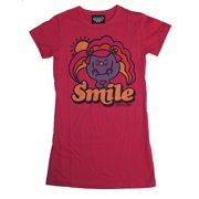 Little Miss Smile Character Vintage Style Junk Food Soft Jrs Babydoll T-Shirt