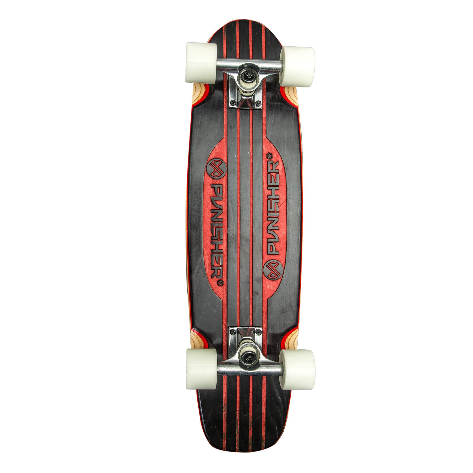 "Punisher Skateboards Special Edition Engraved 28"" Longboard Skateboard, Red by Punisher Skateboards"