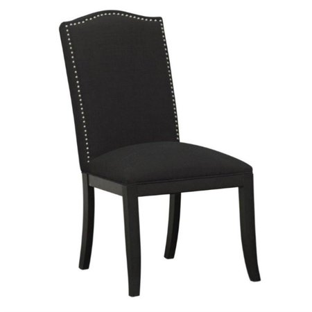 Astonishing Pri Fabric Nailhead Dining Chair In Black Bralicious Painted Fabric Chair Ideas Braliciousco