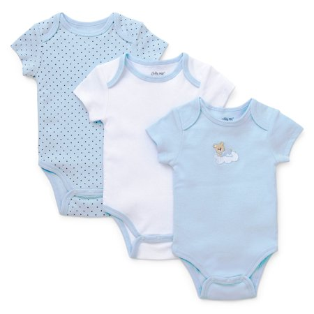 b8f2329f7010 Little Me - Little Me Baby Sleepy Bear Solid and Polka Dot 3 Pack of ...