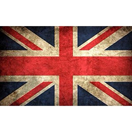 Decal Union (VINTAGE Union Jack Flag Sticker Decal (uk britain british london old) Size: 3 x 5 inch)