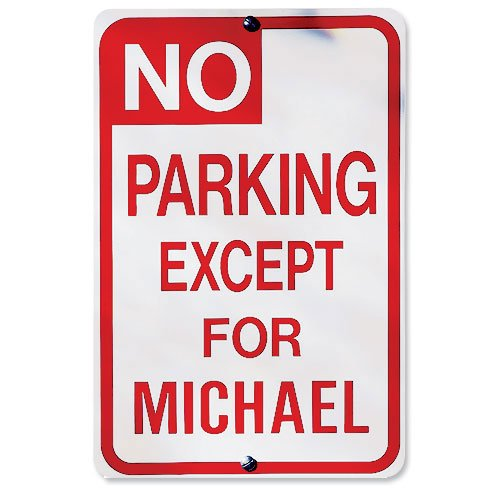 Personalized No Parking Sign Walmartcom