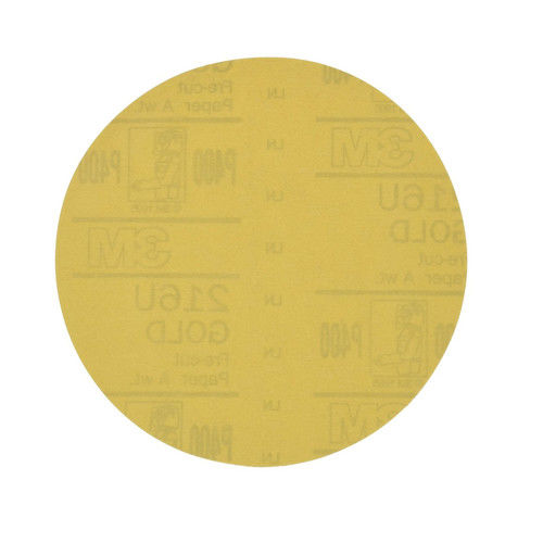 3M 973 Hookit Gold Disc, 6 in., P400A (100-Pack) by 3M COMPANY