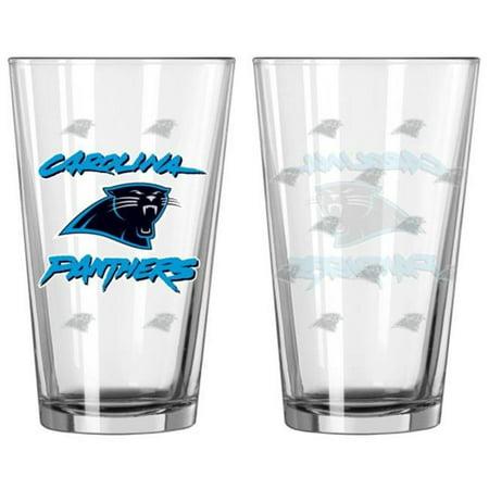 Carolina Panthers Satin Etch Pint Glass Set - image 1 de 1