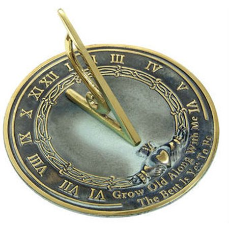 Rome Rome Brass Grow Old With Me Sundial - Solid Brass - -
