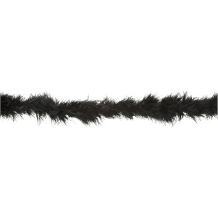 Simplicity Wright Black Feather Boa, 1 Each (Black Boa Feathers)