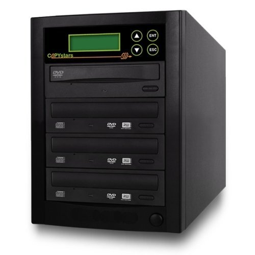 Copystars DVD-Duplicator 24X CD-DVD-Burner 1 to 3 Copier Sata Drive Dual Layer Writer SmartPro Tower by Copystars