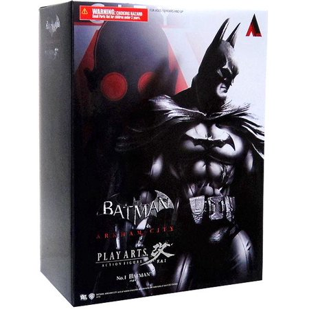 Square Enix Batman Arkham City: Play Arts Kai Batman Action Figure](Catwoman Cosplay Arkham City)