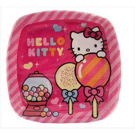 Hello Kitty 'Sweet Gumdrop' Small Paper Pocket Plates (8ct) - Hello Kitty Plates