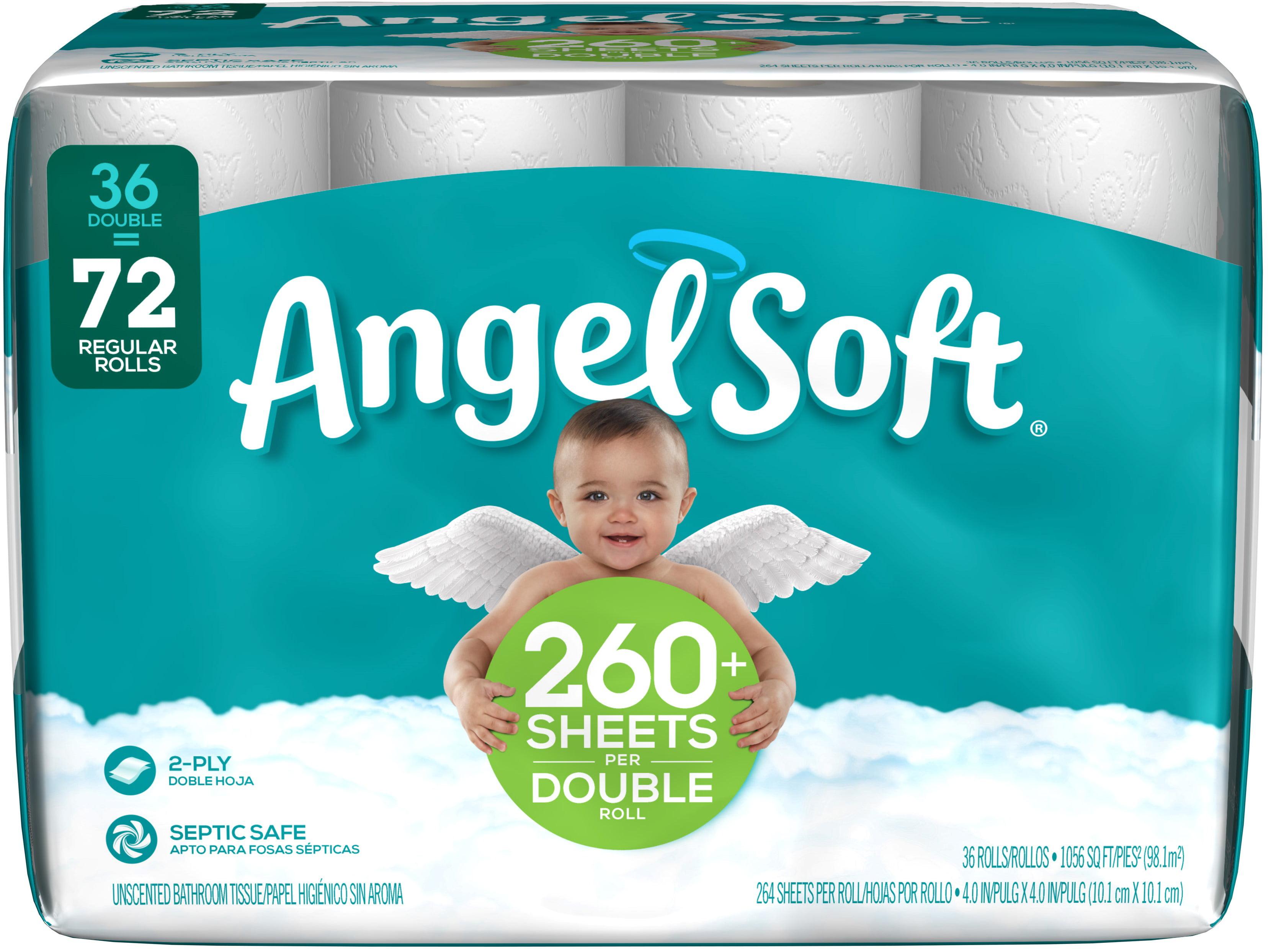 Angel Soft Toilet Paper 36 Double Rolls Walmart Com