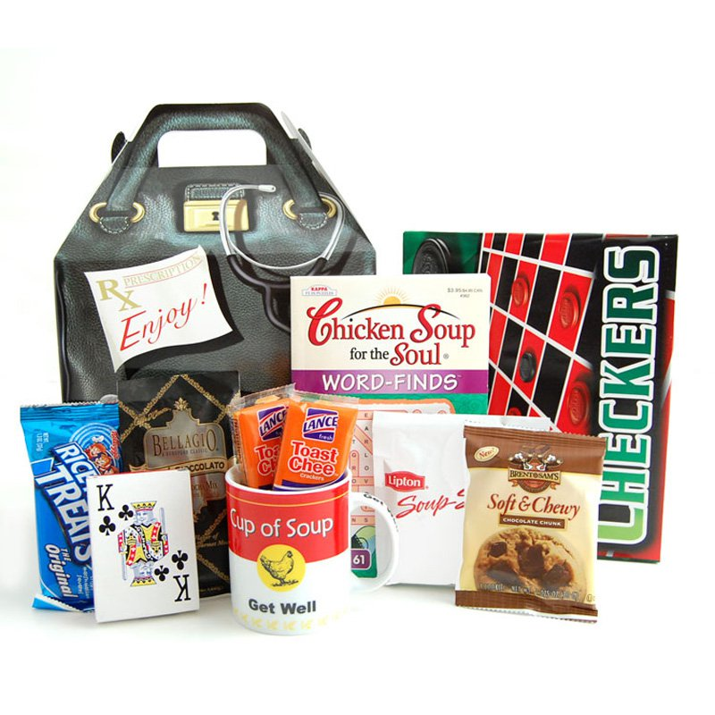 Get Well Care Package Gift Box by Nikkis Gift Baskets