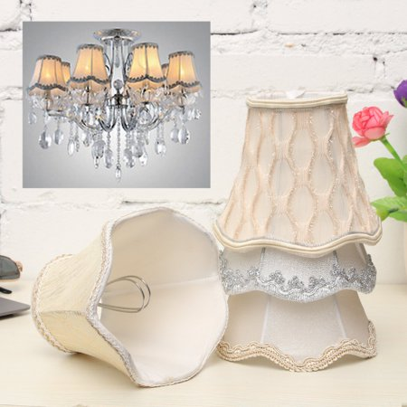 Fabric Chandelier Lamp - Vintage Small Lace Lamp Shades Textured Fabric Ceiling Chandelier Light Covers
