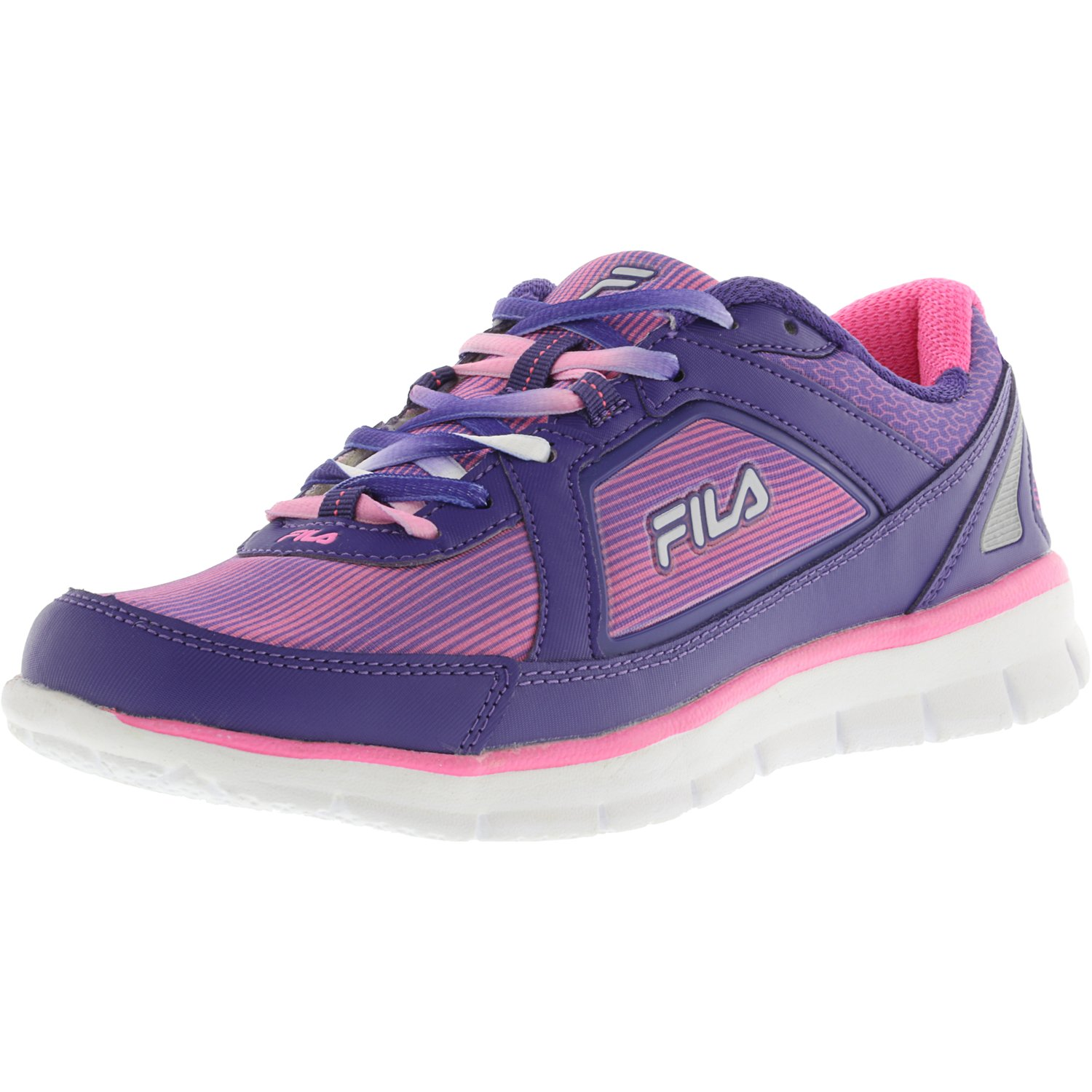 Fila Women's Finest Hour Neoprene Classic Blue   Bluefish Knockout Pink Ankle-High Running Shoe 9M by Fila