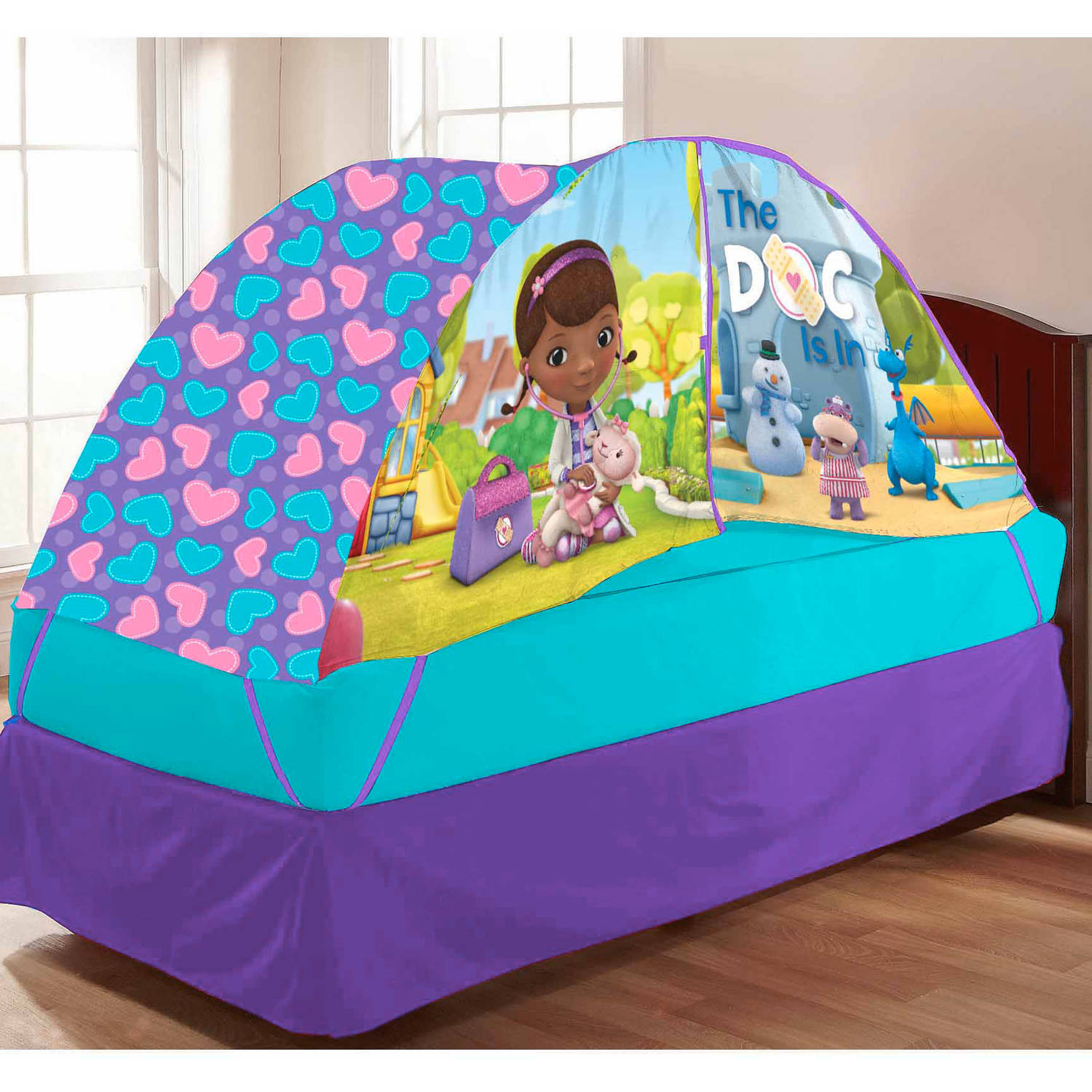 Idea Nuova Doc McStuffin Bed Tent with Pushlight
