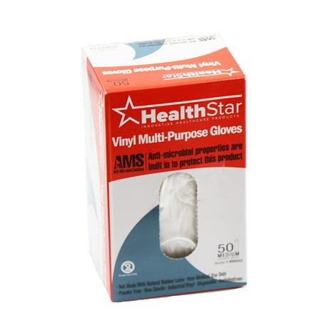 Antimicrobial Vinyl Clear Multi-Purpose Gloves Medium 50 Box
