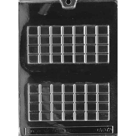 Break Apart Candy Bar Chocolate Mold - AO149 - Includes Melting & Chocolate Molding Instructions (Chocolate Bar For Melting)